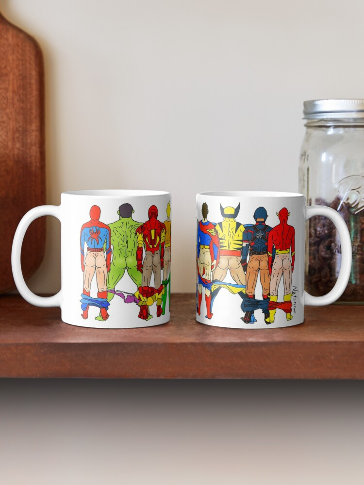 Alternate view of Superhero Butts Mug