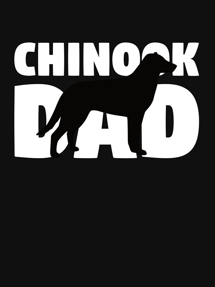 Chinook Dad T-Shirt Chinook Gift Father Dog Dad Tee de davdmark
