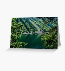 Thunder Lake Through the Trees Greeting Card