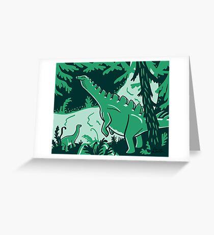 Long Necks print Greeting Card