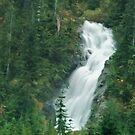 Waterfall on the Mountain Lake Hut Trail by Michael Garson