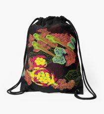 Zebrafish Fluorescent Staining Drawstring Bag