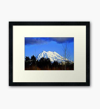 Mt. Rainier in HDR Framed Print