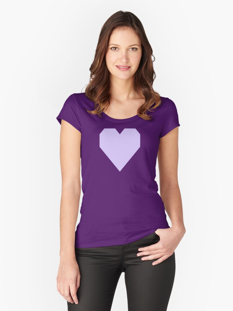 Pale Lavender  Women's Fitted Scoop T-Shirt Front