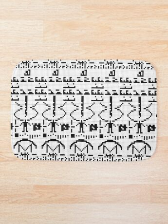 Arecibo Message 001 Bath Mat