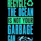 Rette den Planeten Erde Verschmutzung Ozeane Meeresverbot Plastik Leben von phoxydesign
