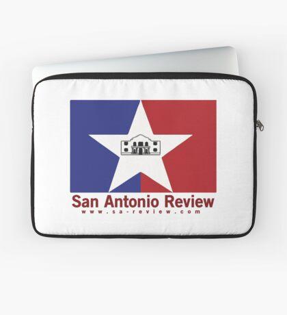 San Antonio Review with San Antonio flag and URL Laptop Sleeve