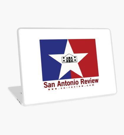 San Antonio Review with San Antonio flag and URL Laptop Skin
