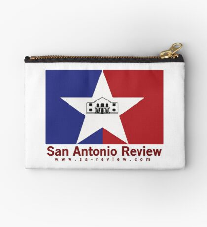 San Antonio Review with San Antonio flag and URL Zipper Pouch