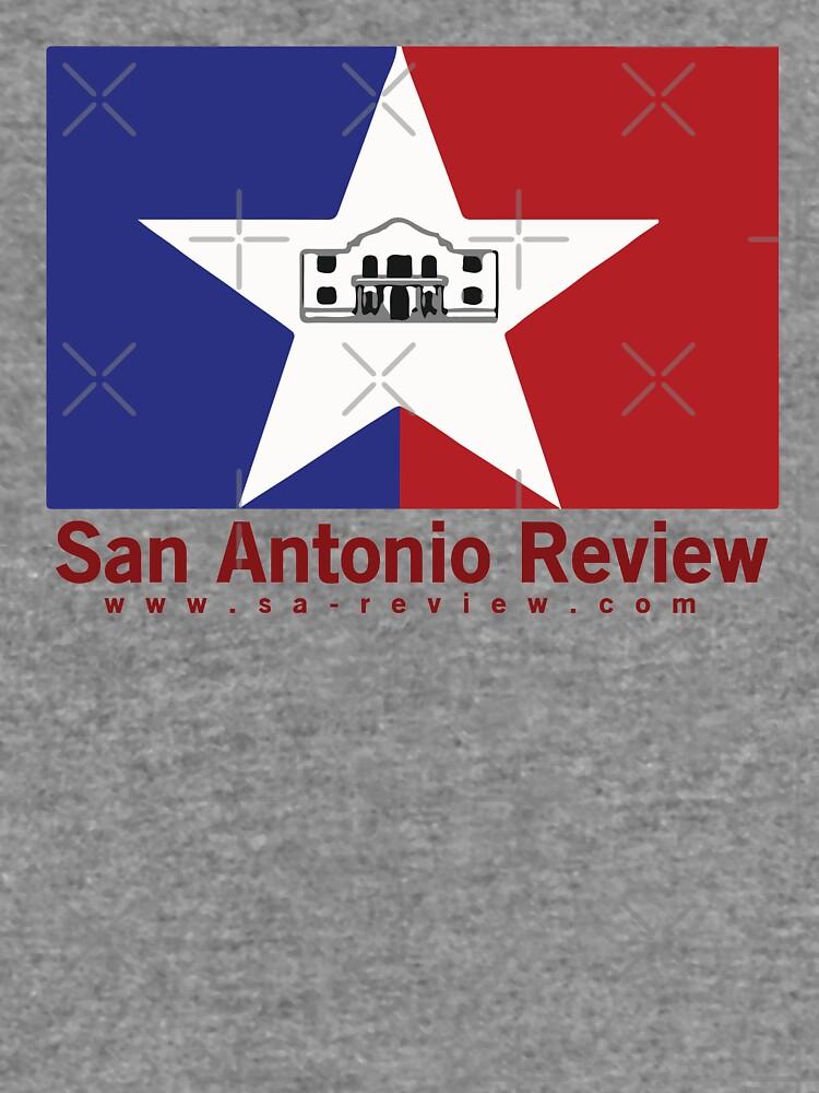 San Antonio Review with San Antonio flag and URL by willpate