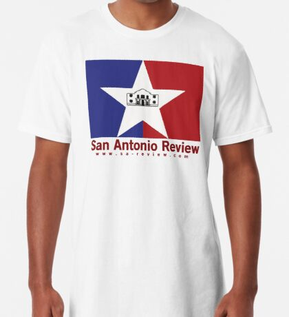 San Antonio Review with San Antonio flag and URL Long T-Shirt