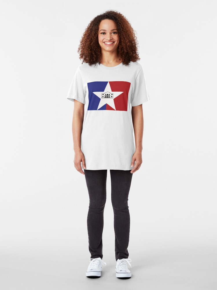 Alternate view of San Antonio Flag Slim Fit T-Shirt