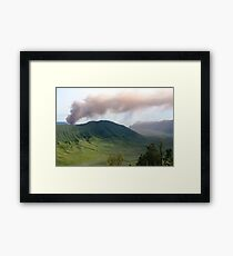 Smoke from Gunung Bromo Framed Print
