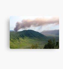 Smoke from Gunung Bromo Canvas Print
