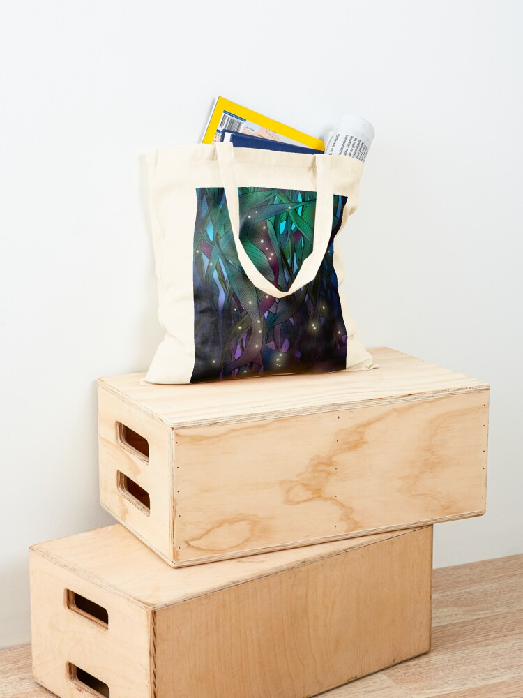 Alternate view of Nocturne (with Fireflies) Tote Bag