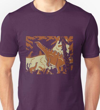 Long Necks - Tan and Orange T-Shirt