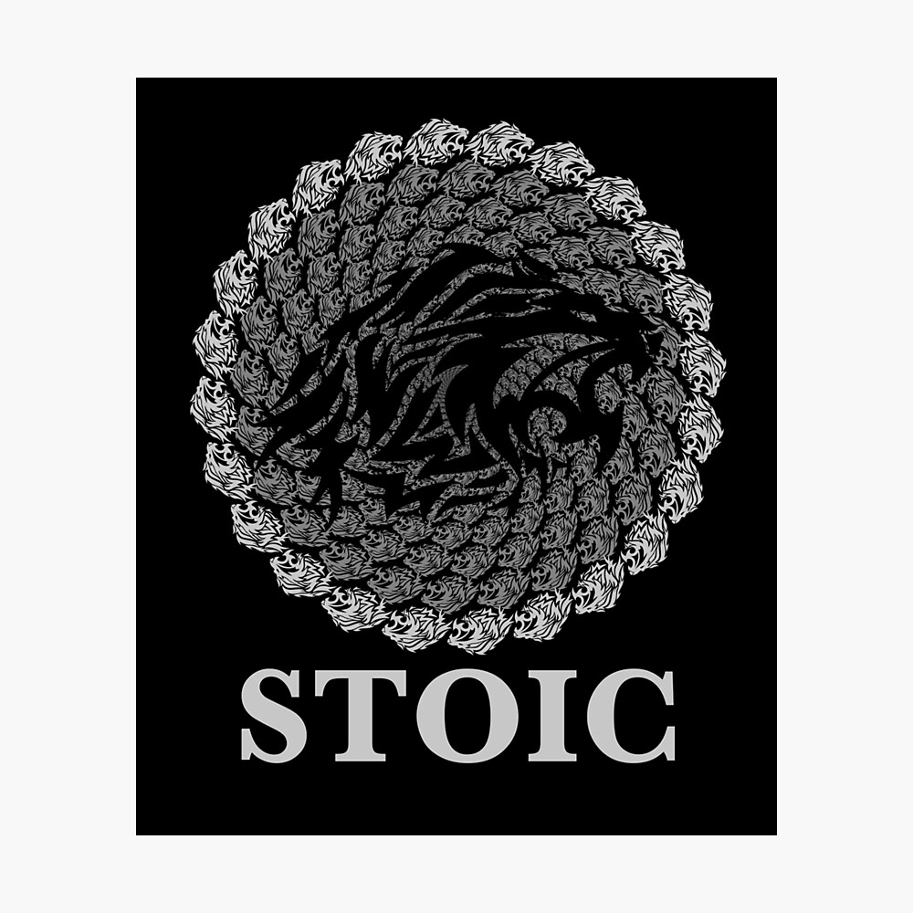 Stoic Lion - Stoic Symbol of Strength - Fight Chaos Photographic Print