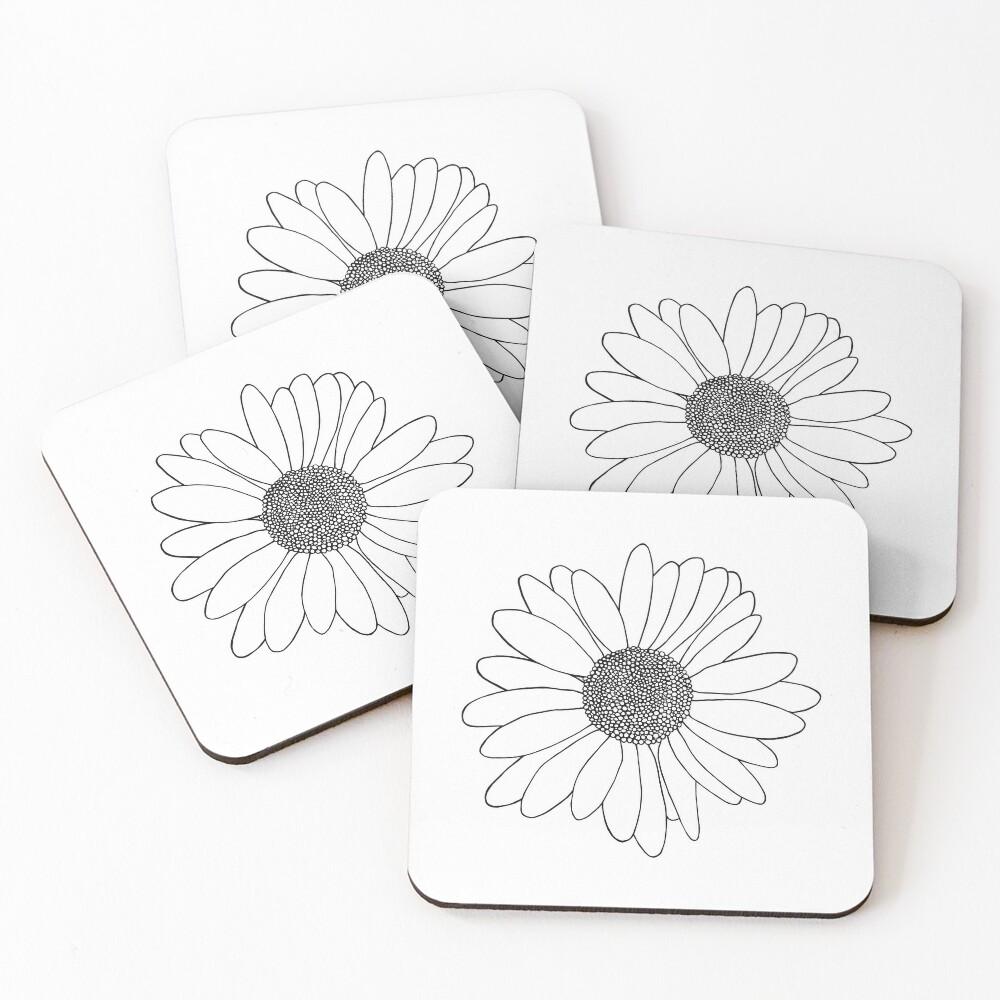 Daisy Coasters (Set of 4)