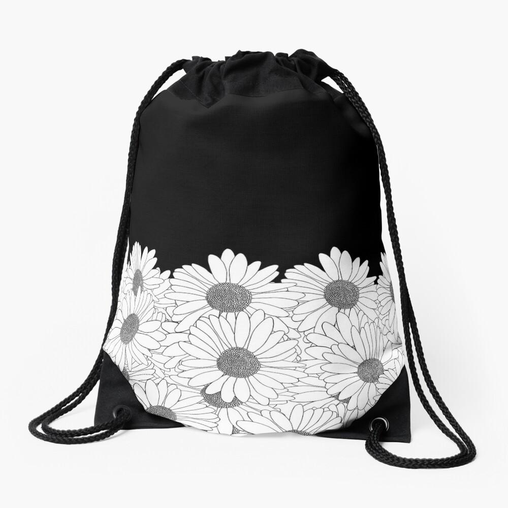 Daisy Boarder Drawstring Bag