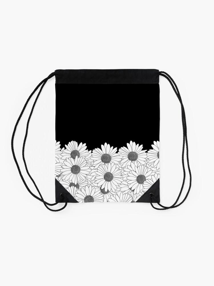 Alternate view of Daisy Boarder Drawstring Bag