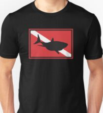 SCUBA Shark Dive Flag Unisex T-Shirt