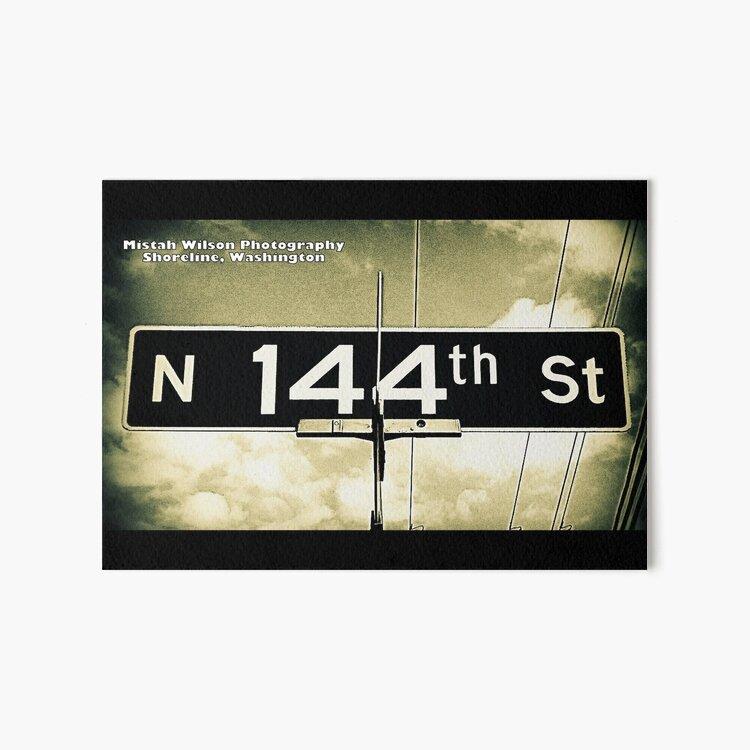 North 144th Street, Shoreline, WA by MWP Art Board Print