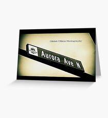 Aurora Avenue North, Shoreline, WA by MWP Greeting Card