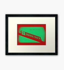Aurora Avenue North Cherry Watermelon by MWP Framed Print