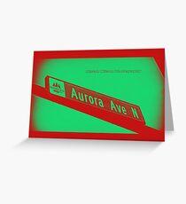 Aurora Avenue North Cherry Watermelon by MWP Greeting Card