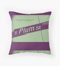 1900 South Plum Street PLUM White Grape, Seattle, WA by MWP Throw Pillow