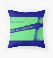 1700 South Massachusetts Street, Illuminated Indigo, Seattle, WA by MWP Throw Pillow