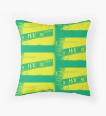 2000 South Hill Street, Neo Yellow, Seattle, WA by MWP Throw Pillow