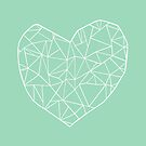Abstract Heart Mint by ProjectM