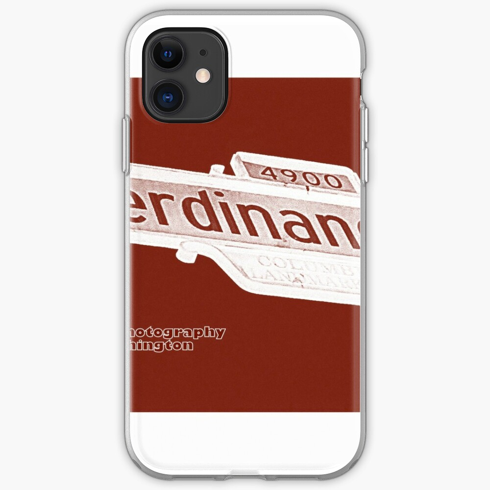 4900 South Ferdinand Street, Red Chocolate, Seattle, WA by MWP iPhone Soft Case