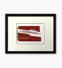 4900 South Ferdinand Street, Red Chocolate, Seattle, WA by MWP Framed Print
