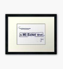 South Mount Baker Boulevard, Dark Ice, Seattle, WA by MWP Framed Print