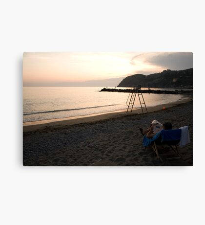 Levanto Beach Canvas Print