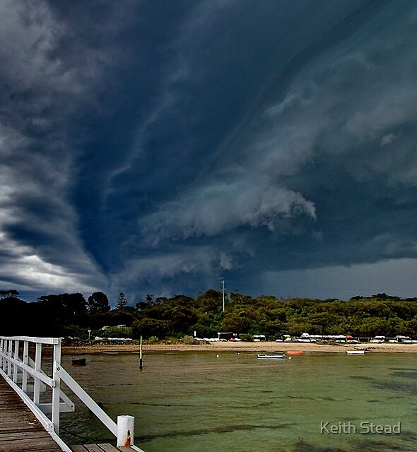 Storm front approaching Cameron's Bight by Keith Stead
