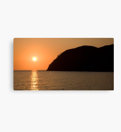 Levanto sunsets Canvas Print