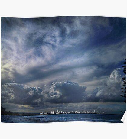 gold coast skyline Poster