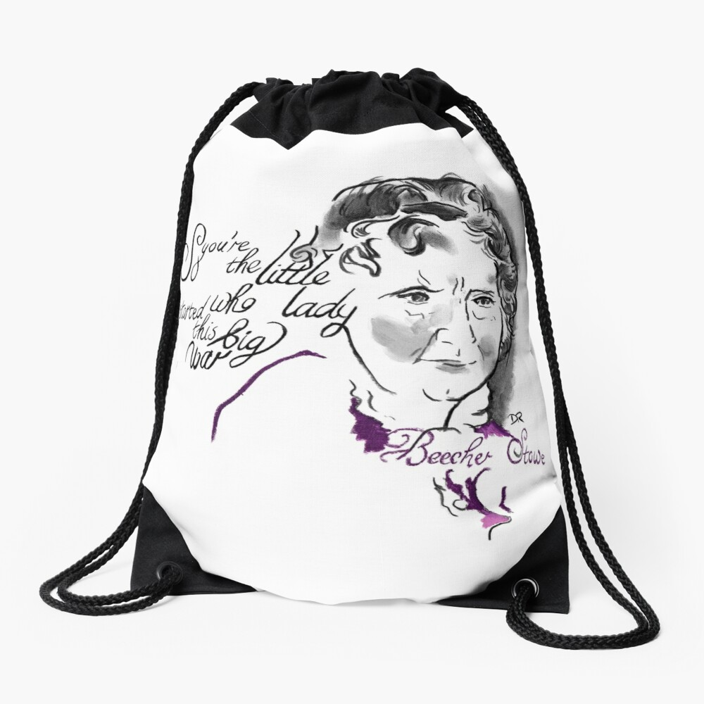 Harriet Beecher Stowe Picture Quote - The Little Lady Drawstring Bag Front