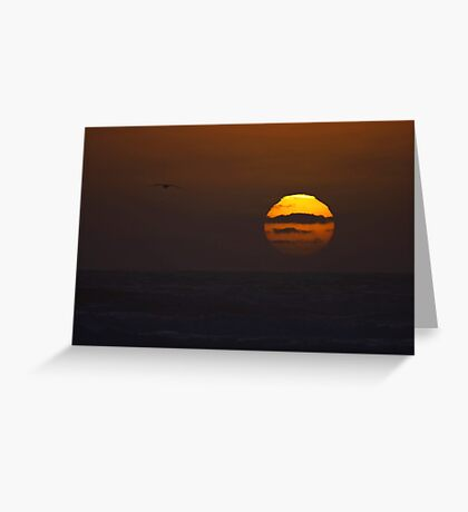 "sunset ""painting"" Greeting Card"