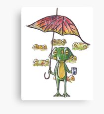 Froggy weather Canvas Print