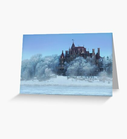 Frosted Castle Greeting Card
