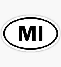 Michigan - MI - oval sticker and more Sticker