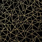 Abstraction Outline Gold on Black by ProjectM