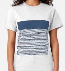 Herringbone Boarder Navy Classic T-Shirt