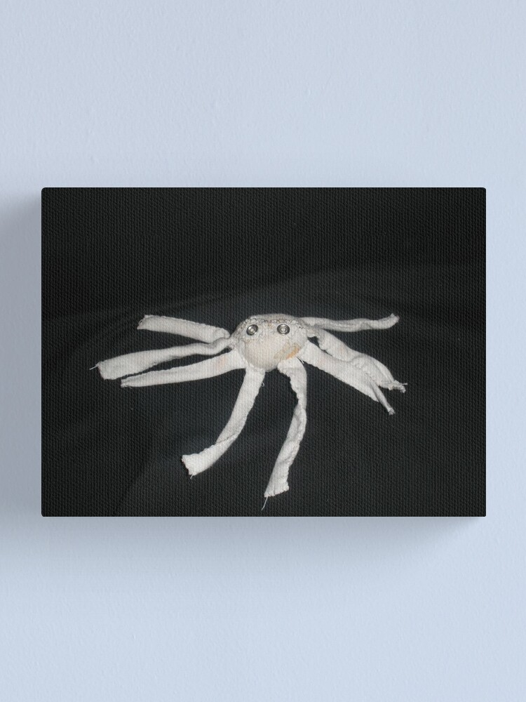 Alternate view of white spider Canvas Print