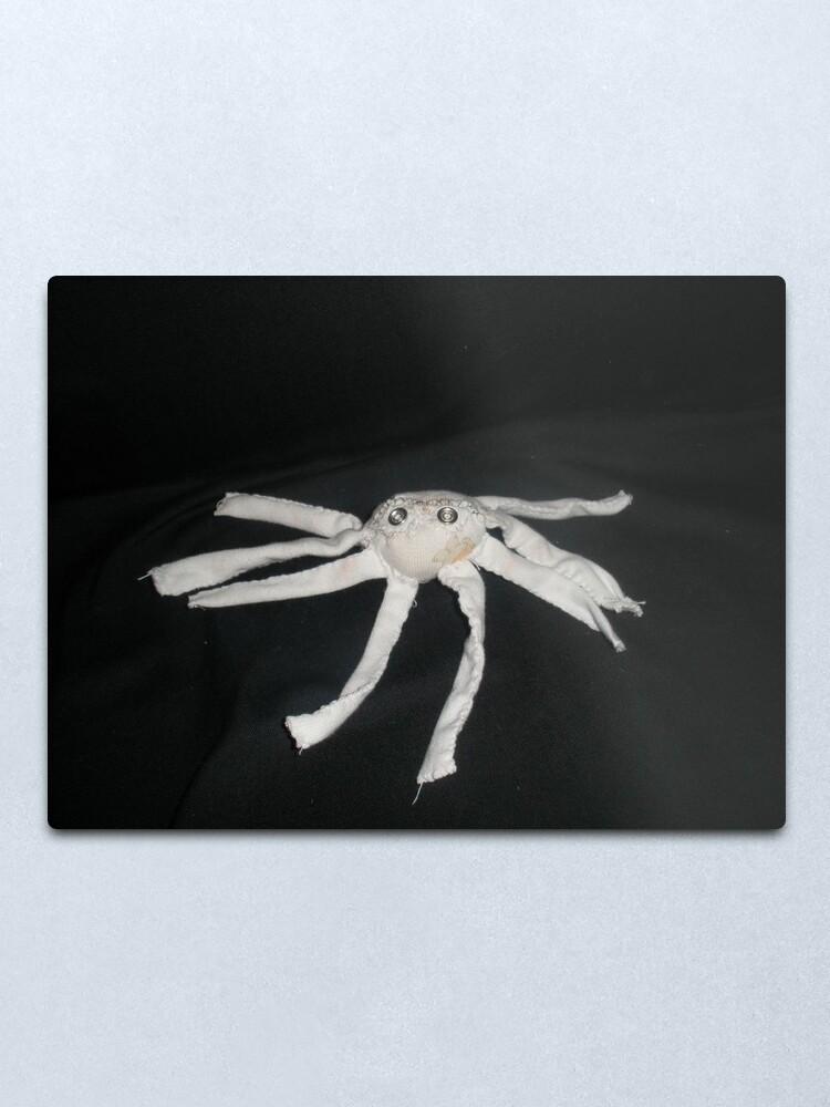 Alternate view of white spider Metal Print