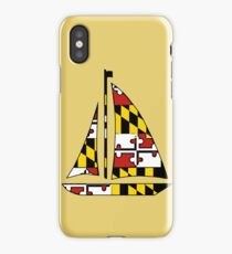 Maryland flag sailboat iPhone Case/Skin